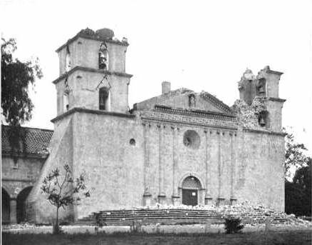 Santa Barbara Mission After Earthquake